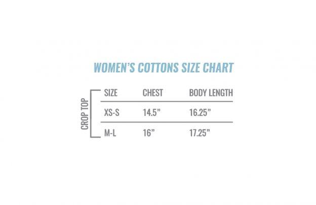 Women S Crop Top Tank Size Chart