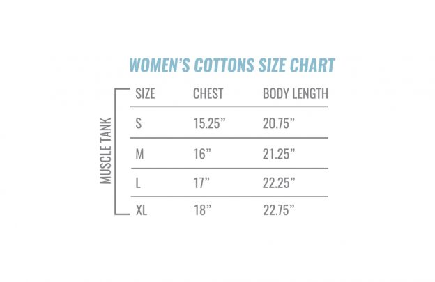 Women S Muscle Tank Size Chart
